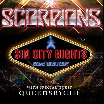 """Scorpions """"Sin City Nights"""" with Special Guest Queensrÿche - Las Vegas  Calendars"""